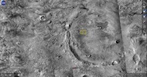 Geplande locatie van de Ice Hab: Jezero krater op Mars. Deze foto is genomen met de MarsTrek NASA tool.  Bron: NASA/JPL