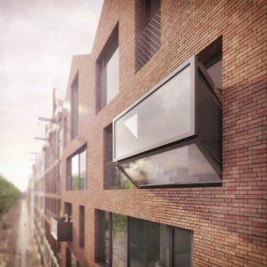De gevel van een gebouw kan door het Bloomframe veranderen op basis van een persoonlijke behoefte.