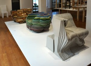 Book chair 2008, Cloud Layers 2013, Muybridge Chair 2007. Foto: Jacqueline Knudsen