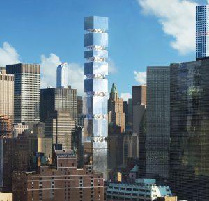 Woontoren ontworpen door Eran Chen aan de East 44th street New York