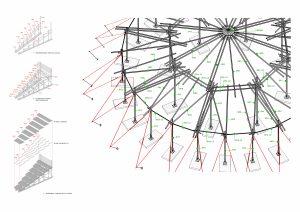 Voor theatergezelschap Kunstklank ontwierp Studio Akkerhuis een tent waarvan de constructie bestaat uit bamboestammen