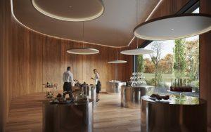 De laatste ruimte in het uitvaartcentrum is door Michiel Hofman tot een warme ruimte gemaakt.