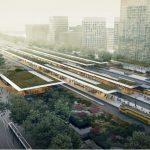 Architectuurwandelingen Noord/Zuidlijn artist-impression-Zuidasdok-station-Zuid-bovenaanzicht-