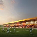 Goudkleurig dak Feyenoord Academy en sportclub