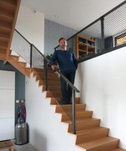Architect en zelfbouwer Hardy de Graaf. Foto Jacqueline Knudsen