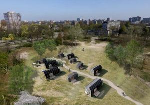 Tien TinyTIMs aan de Zwemmerslaan in Haarlem van FARO architecten