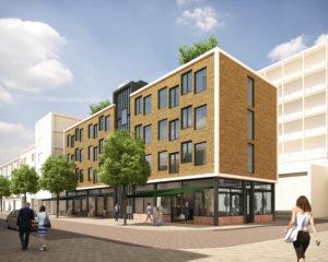 Blok met 21 luxe studio's (27 m2) aan de Pannekoekstraat in Rotterdam, Kühne & Co
