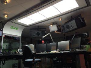 Een biodynamische lichtoplossing bij 3FM in Hilversum voor DJ's die ook in een soort ploegendienst werken