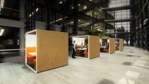 De E-Qube kan worden ingezet als flexwerk-plek, waar werknemers met een programma zelf de lichtkleur en hoeveelheid licht aan kunnen passen. Het is ook mogelijk om af en toe een 'lichtboost' te krijgen