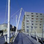 Brug Almere Architectuurwandeling Almere in de avond