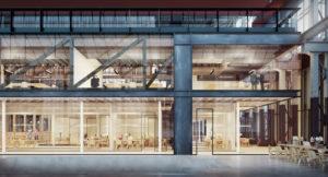 De LochHal, een ontwerp van Civic architects, Braaksma& Roos en Inside Outside, wordt eind 2018 opgeleverd • Beelden LocHal 3Dstudio Prins.