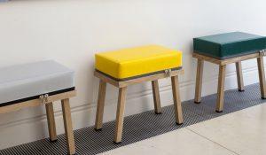 De collectie Truecolors startte met de vraag van een fabrikant van industrieel zeildoek om iets te maken van hun restmateriaal.