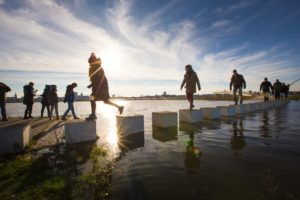 Een internationale jury koos de Zaligebrug van Next Architects als het beste ontwerp van 2018 • Foto Rutger Holland.