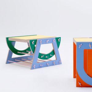 Doe-het-zelf meubels met plaatmaterialen van  Baars & Bloemhoff: collectie SUM van Jasmijn Muskens • Foto Floor Knaapen.