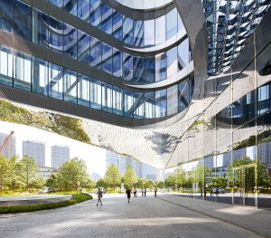 Raffles City Hangzhou in China is een 'sustainable urban hub' voor wonen, werken en recreëren • Foto's Hufton + Crow