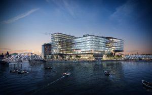 Ontwerp voor het hoofdkantoor van Booking.com in Amsterdam • UNStudio 2015.