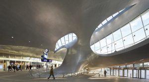 Met deze 'OV-hub' realiseerde UNStudio in 2016 een ingrijpende metamorfose van het Arnhemse stationsgebied • Foto Hufton + Crow