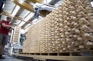 Studio RAP ontwierp en produceerde een balustrade en muur in paviljoen Circl van ABN AMRO, samengesteld uit het afval van de houten draagconstructie van het paviljoen. De positie en oriëntatie van de tienduizend latten zijn geheel aan het ontwerp-algoritme overgelaten. Het ontwerp is met een productierobot gemaakt