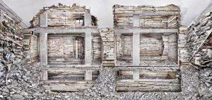 Verwoest Huis Piet Mondriaanstraat 1. Met grootschalige ingrepen in vier appartementen transformeerde Teeuwen het dode en aangetaste flatgebouw uit de jaren '60 van woningbouwvereniging De Alliantie naar een helder, minimalistisch beeld (2011)