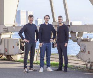 De oprichters van Studio RAP v.l.n.r. Léon Spikker, Lucas ter Hall en Wessel van Beerendonk