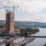 Hoogste houten gebouw geopend