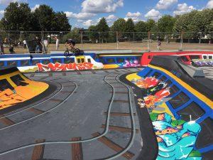 Skatepool in het Griftpark