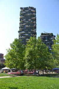 Twee torens van het Bosco Verticale in Milaan