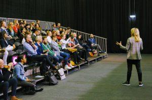 In het MaterialDistrict Theater en Partner Theater vonden 50 lezingen van materiaalexperts plaats
