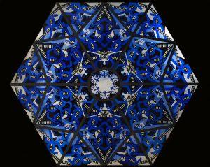 Thorn Prikker, zeshoekig glas-in-loodraam, 1920. Foto: Ben Deiman