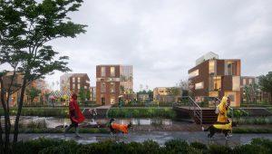Brainport Smart District (BSD) wordt een gemengd woon- en werkmlieu rond een centraal park.
