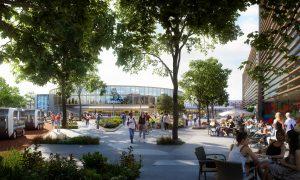 De wijk zet in op een nieuwe relatie tussen gebouwen en landschap.