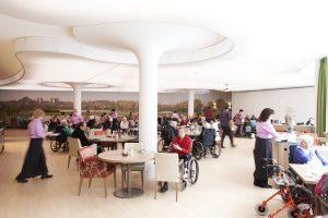Restaurant in Herstelhotel Dekkerswald van opZoom architecten. Foto Pim Geerts