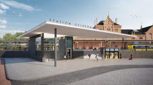 Nieuwe oostentree met toegang tot de reizigerstunnel en perron