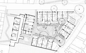 Woningbouw voor mensen met een autistische aanleg in binnenstad Leiden, landschappelijke invulling