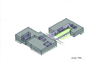 In Utrecht is Mevrouw Meijer betrokken bij de renovatie van Nimeto, een mbo-vakschool. Architect Maarten van Kesteren maakt zes openingen die de verdiepingen verbinden en de oriëntatie door het gebouw verbeteren, inclusief binnenhof met omgang. Er zijn geen gangen meer, maar ruimtes met diverse gradaties in open- en geslotenheid