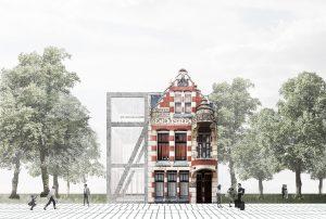 Restauratie en nieuwbouw Villa Van Waning op Eiland Feyenoord, Rotterdam.  IWT plaatst een betonconstructie tegen het gebouw dat als fundering functioneert. Daarnaast beslaat het ontwerp van IWT meerdere schalen, van  stedenbouwkundig ontwerp tot programmatische  inrichting en interieurontwerp.