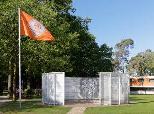 Wanneer je de KNVB campus in Zeist betreedt, zie je meteen The Wall of Fame, die bestaat uit drie cirkelsegmenten