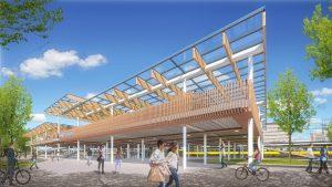 Biking the station in Dordrecht. Het ontwerp van StudioSK voor het toekomstige fietsgebouw