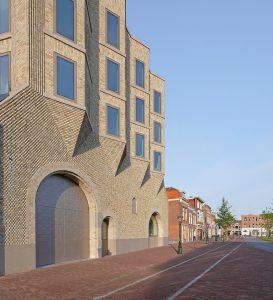 Nieuwe vleugel van Museum De Lakenhal aan de Lammermarkt in Leiden. Ontwerp en foto: Happel Cornelisse Verhoeven Architecten