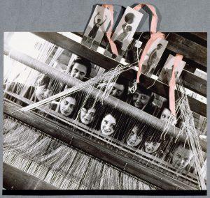 Leerlingen van de weverijwerkplaats in Dessau Gefotografeerd voor het album 9 Jahre Bauhaus, 1928 Foto: anoniem [erven Gunta Stölzl]
