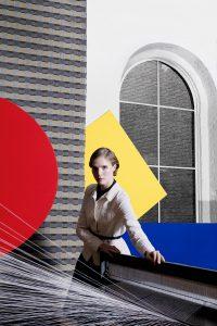 Campagne beeld Bauhaus & Jaar: 2018 Collectie TextielMuseum: stof Otti Berger, Carré Uitvoering: Storck Van Besouw (Goirle) voor Cassina, Milaan Ontwerp : 1930 [1974] Foto: KLUNDERBIE i.o.v. TextielMuseum