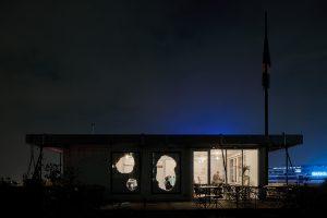 Bistro Inside Out op het dak van het Schieblok in Rotterdam. Foto Kyoungtae Kim