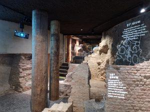 Ondergronds niveau van de Bastei Nijmegen. Foto Jacqueline Knudsen