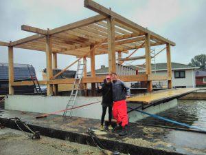 Mijke de Kok en Wouter Valkenier op scheepswerf De Blauwe Wimpel in Diemen