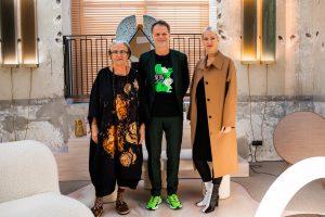 Lidewij Edelkoort, Martijn Paulen (directeur DDF) en Sabine Marcelis. Foto: Simone Frank
