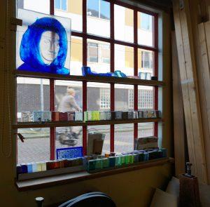 Etalage van SIO in Groningen