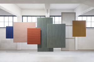 Rhombus en Bloko, Architextiles Art Panels, Aleksandra Gaca. Foto: Studio Matusiak & Eddy Wenting