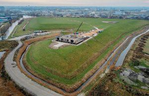 Het Energie Kenniscentrum in Leeuwarden in aanbouw
