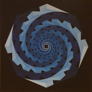 Monika Buch, 1976, zonder titel, acrylverf op paneel