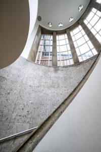 Trap in het Van der Steur gebouw. Foto: Marie Louise Nijsing